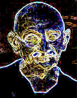 Gandhiji Computer Art: Ghanshyam Thakkar
